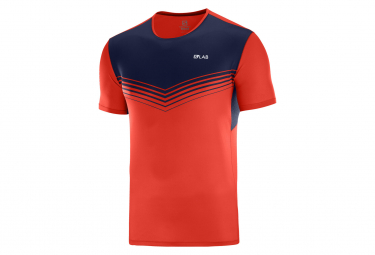 short sleeves jersey Salomon S/LAB Sense Red Blue Men