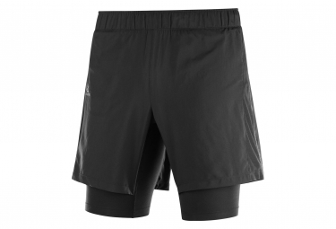 2 en 1 Short Salomon Agile Twinskin Black Men