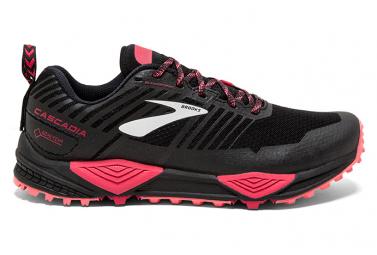 Chaussures de Trail Femme Brooks Running Cascadia 13 GTX Noir / Rose