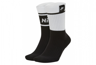 Chaussettes Nike Sneakers Blanc / Noir