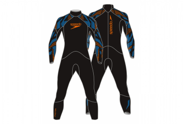 Speedo Swimsuit Proton Male Fullsuit Black Blue