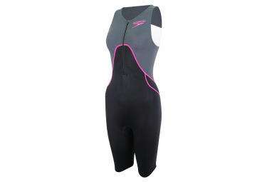 Women's Speedo Proton Trisuit Tri Suit Black Pink