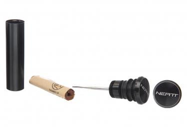Kit de Réparation Tubeless Neatt Avec Embouts de Guidon Aluminium Noir + 5 Mèches