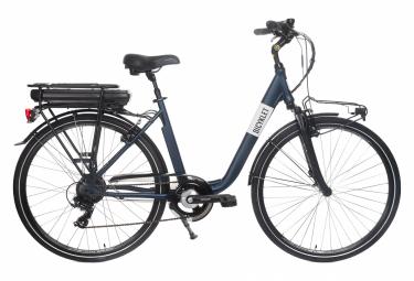 Image of Velo de ville electrique mixte bicyklet claude shimano tourney 7v 500 wh 700 mm bleu nuit mat 2020 44 cm 150 170 cm