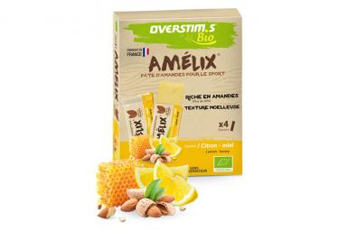 Assortiment 4 barres énergétiques Overstims Amelix Bio Citron Miel