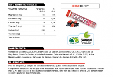 High5 ZERO x20 Red Fruit energetic tablets