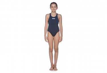 Arena Girl's Solid Swim Tech Navy White