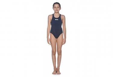 Arena Girl  39 S Solid Swim Tech Azul Marino Blanco 12 13 Anos