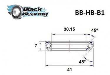 Black bearing - B1 - Roulement de jeu de direction 30.15 x 41 x 7 45/45°