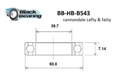Black Bearing  - Roulement direction headshock Cannondale - Black Oxide- B 543 Max  2RS