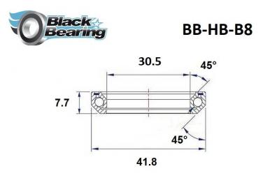 Black bearing - B8 - Roulement de jeu de direction 30.5 x 41.8 x 7.7 mm 45/45°