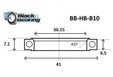 Black bearing - B10 - Roulement de jeu de direction 30.15 x 41 x 6.5 / 7.1 mm 45/90°