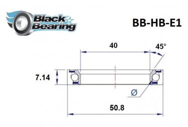 Black Bearing - E1 - Roulement direction Cannondale