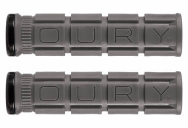 Paire de Grips Oury Grips Lock-On V2 Gris Graphite