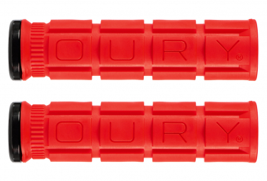 Paire de Grips Oury Grips Lock-On V2 Rouge Candy