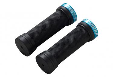 REVERSE Grip Youngstar Single Lock-On 28mm x 98mm Black/Light-Blue