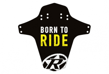 Front / Rear Fender Reverse Mudgard Born to Ride Black / Yellow