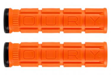Paire de Grips Oury Grips Lock-On V2 Orange Blaze