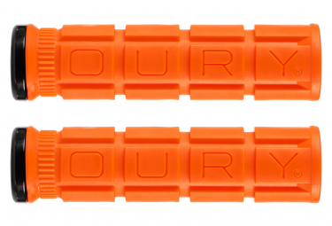Paire de Grips Oury Grips Lock-On V2 Orange Blaze