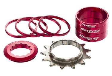 Kit Single Speed Reverse Red / Pinion 13 Teeth Red