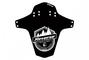 Rear / Front Fender Reverse Supporting Riders Mudfender Black / White