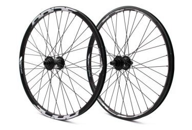 Pair of BMX Pride Racing Control Cruiser 36 Holes Black