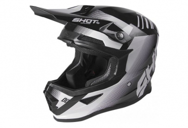 Image of Casque shot furious trust black white glossy xs