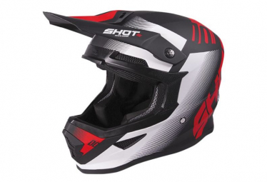 Image of Casque shot furious trust black red matt xs