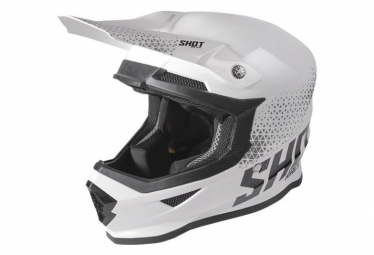 Image of Casque shot furious raw white black glossy l