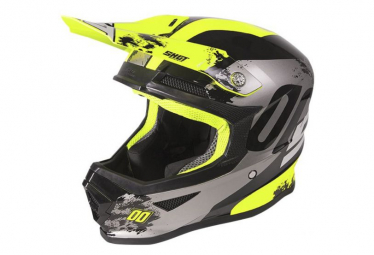 Image of Casque shot furious kid shadow neon yellow glossy m