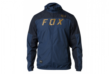Indigo Blue Fox Moth Windbreaker Jacket
