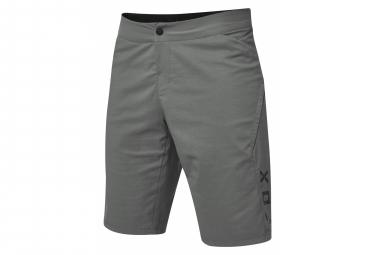 Shorts in pelle grigio chiaro Fox Ranger