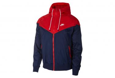 Nike Sportswear Windrunner Blue / Red Hooded Windbreaker Jacket