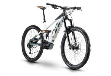Husqvarna Mountain Cross 5 Sram NX 11s Electric Full Suspension Mountain Bike Verde scuro / Bianco 2020