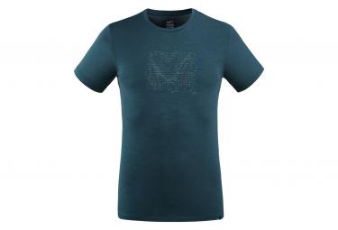 Tee shirt Millet Density Wool Bleu Homme