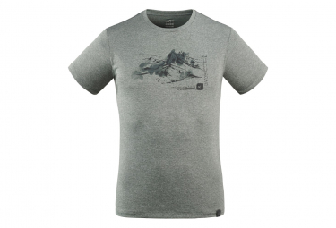 Camiseta Millet Mount Sketch Gris Hombres