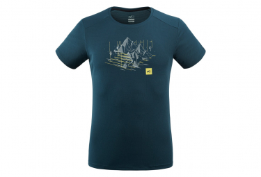 Tee shirt Millet Black Mountain Blue Men