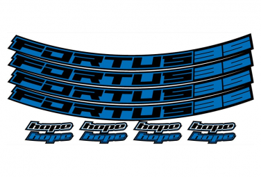Hope Fortus 35 Blue Wheel Stickers