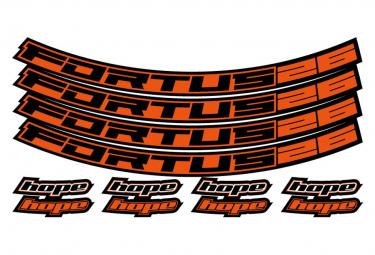 Hoffnungs-Fortus 26 orange Rad-Aufkleber