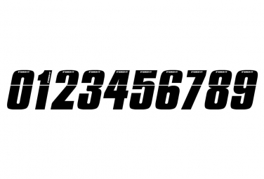Numéro pour Plaque Latérale Insight 8cm Noir
