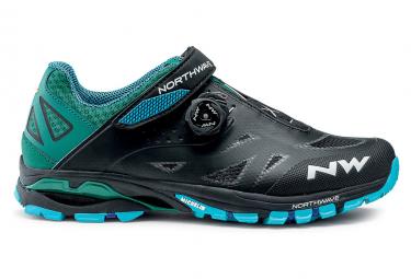 Northwave Spider Plus 2 MTB Schuhe Schwarz / Blau