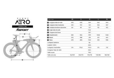 Vélo de triathlon ADRIS SPEEDLINE 9.2 Rouge VISION