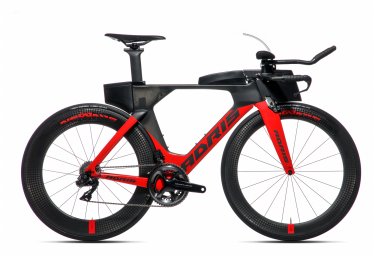 Vélo de triathlon ADRIS SPEEDLINE 9.9 LX Rouge VISON