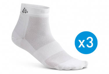 Craft Socks Greatness Mid-High Pack of 3 White Unisex