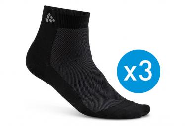 Craft Socks Greatness Mid-High Pack of 3 Black Unisex