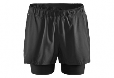 Craft Shorts 2 En 1 Essence Black Hombre Xl