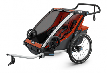 Thule Chariot Cross 2 Trailer Orange Dunkelgrau