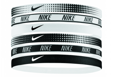 Nike Printed headbands x6 Bandana fin White Black