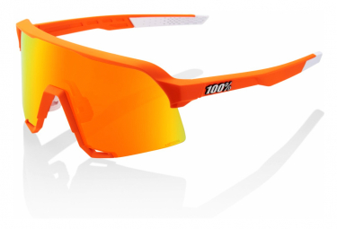 Occhiali 100% S3 Edition Orange Fluo - Hiper Red Mirror