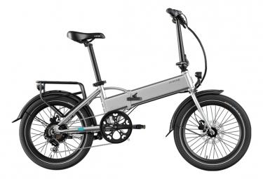 Legend Monza Vélo Electrique Pliant Smart eBike Roues de 20 Pouces, Freins Disque Hydraulique, Batterie 36V 14Ah Panasonic (504Wh), Argent